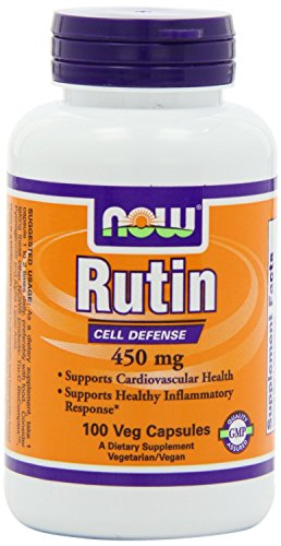 Now Foods Rutin 450mg, Veg Capsules, 100 Count