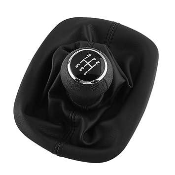 5 velocidades Color Negro dljztrade Funda para Palanca de Cambios para Volkswagen Passat B5 1 Unidad