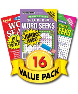 Penny Dell Family Word Seek 16-Pack