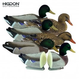 Higdon Outdoors Magnum Mallard, Foam Filled, Flocked Heads