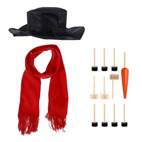 Party DIY Decorations - Winter Holiday Diy Decorations Snowman Dressing Kit Toys Decoration Christmas Gift Hat Scarf Pipe - Decorations Party Party Decorations Beach Shawl Neck Scarf Tube Babush