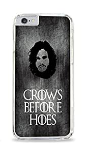 CSKFUCrows Before Hoes Jon Snow Game Of Thrones Clear Hardshell Case for ipad iphone 6 4.7 inch