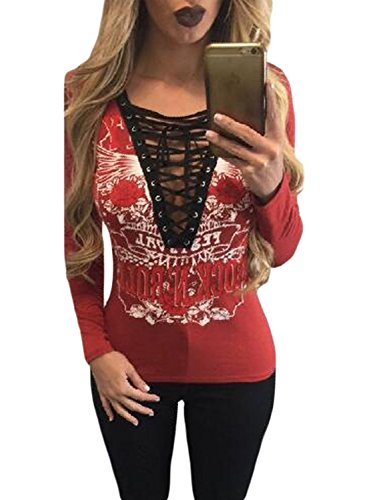 Astylish Casual Printed Bandage T shirt