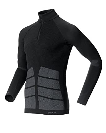 Odlo Evolution Warm - Camiseta interior térmica sin costuras para hombre, color negro, talla S: Amazon.es: Deportes y aire libre