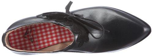 Diavolezza GIO 7031 - Zapatos de vestir de ante para mujer Negro