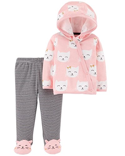- Carters Little Baby Basics 2-Piece Side-Snap Cardigan & Footed Pant Set Preemie