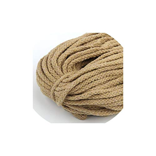 Ropes 5Meter/Lot 5mm Thick Decorative Twisted Cord Rope Knit Cord Decor Rope,5M Beige ()