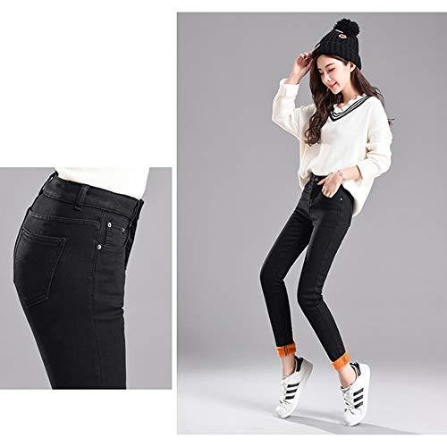 Garder Velours Style01 Bozevon Haute Pour Femmes Au Pantalons Taille Chaud Jeans DamesD'hiver EH92WDI