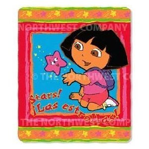 Dora the Explorer 'Stars' Fleece Throw