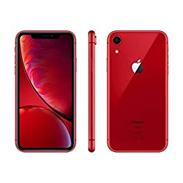 Apple iPhone XR, 64GB, Red – Fully Unlocked (Renewed)