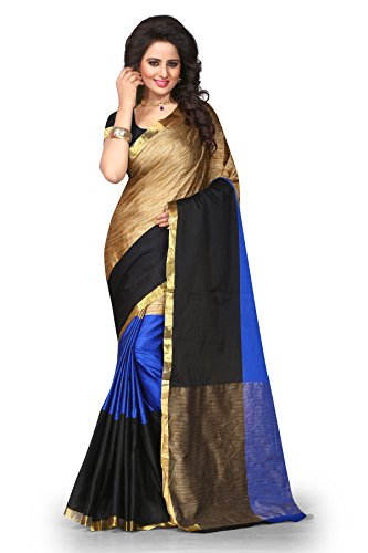 Fabattic Womens Cotton Silk Saree with Blouse Piece(CHI101_Multi-Coloured)