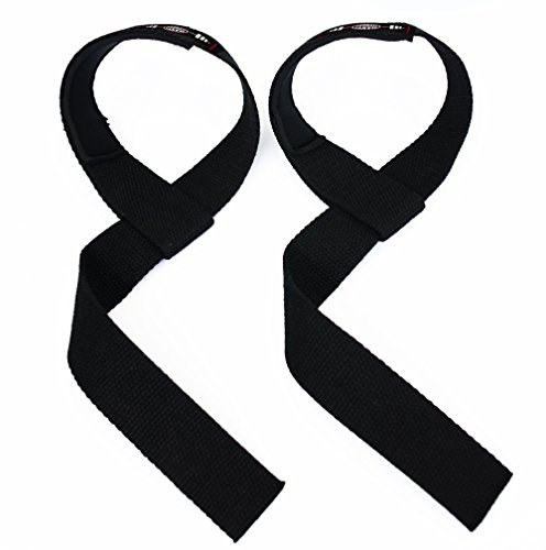 Lifting Straps, Cotton Lifting Straps With Adjustable Padded Wrist Wrap For Weight Lifting, Bodybuilding, Crossfit, Powerlifting, Xfit, Assist Grip Strength, Non slip Lifting Straps For Men & Women