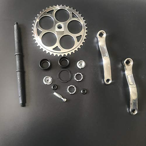 dolphin1986 44T Sprocket Wide Crank Assembly Kit -3pcs, for 4-Stroke Motor,Gas Motorized Bicycle by dolphin1986 (Image #3)
