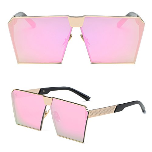 Niceskin Retro Oversized Mirrored Sunglasses Shades for Women, Resin and Metal - Sunglasses 99