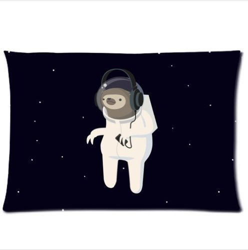 Best Custom Sloth In A Space Suit Walks In Space Pillowcase,One Side Pillowcase Pillow Cover 20X30 Inches -