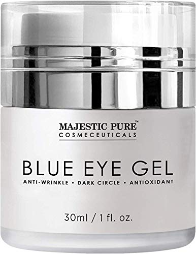Majestic Pure Blue Eye Gel - Reduce the Appearances of Dark Circles, Puffiness, Bags and Wrinkles - Eye Cream for Under and Around Eyes - 1.0 fl. oz. ()