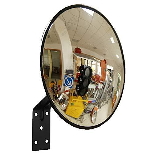 KitaBulb Verkeersspiegel veiligheidsspiegel bewakingsspiegel panoramaspiegel convexe spiegel 30cm zwart
