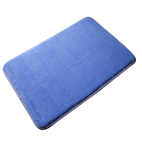 YING LAN Coral Fleece Memory Cotton Carpet,Non-Slip Absorbent Mat,Soft and Comfortable,Slow Rebound Carpet Kitchen Bathroom Floor Mat Royal Blue