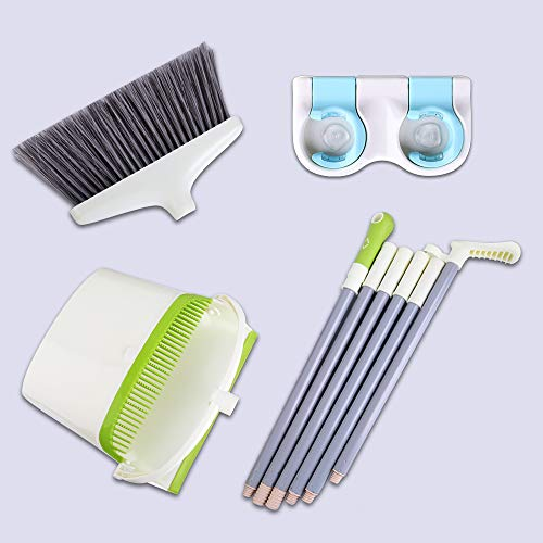 Broom and Dustpan Set with Long Extendable Handle-Wisp and Pet Hair Cleaning,Ideal Kitchen, Home Ourdoor Lobby Upright Broom and Dust pan Combo with Holder by Skizem (Image #6)