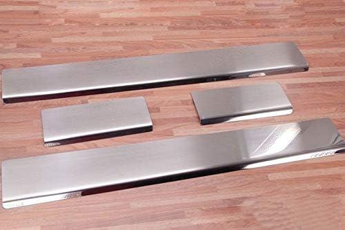 2007-2015 4-Door Chrome Door Sill Scratch Protector Guard Fits Corsa D