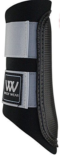 Woof Wear Club Brushing Boot negro/gris - NUEVO color para 2015 CABALLO PONY equino - X LARGE extra-large