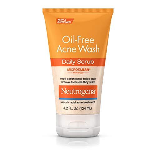 Neutrogena Oil Free Acne Face Scrub with Salicylic Acid Acne Treatment Medicine, Daily Face Wash to Prevent Breakouts, Oil Free Exfoliating Acne Cleanser with Salicylic Acid, 4.2 fl. oz (Best Deep Cleanser For Acne)