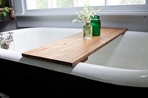 Red Oak Wood Bathtub Tray - Honey Caddy Wooden Clawfoot Standard ...
