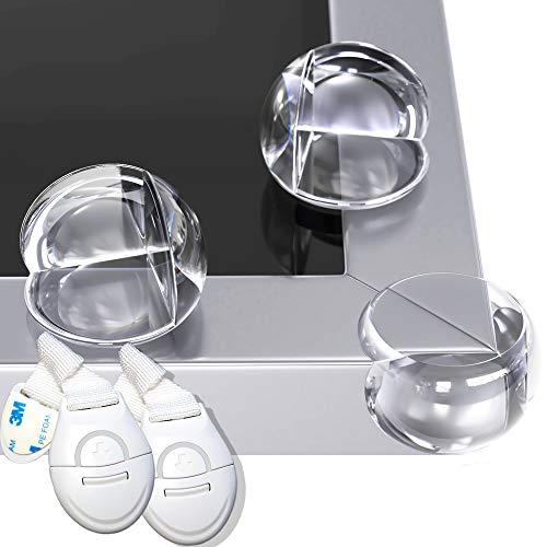 HAPPY CHLEA® 12 Transparante Hoekbeschermers voor Kinderen, Set voor een Veilig Thuis met Beschermers voor Tafels en/of…