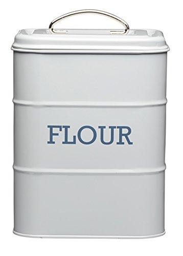 17 x 12 x 24cm Grey Living Nostalgia Flour Canister Flour Canister