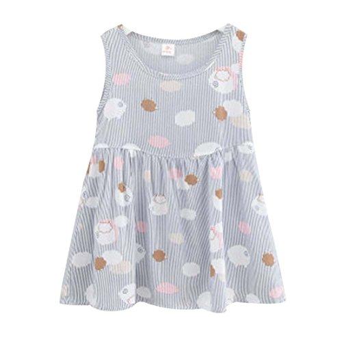 Koala Superstore Sleeveless Cotton Dress Vest Skirt for Girls Home Nightdress Kids' Pajama [F] by Koala Superstore
