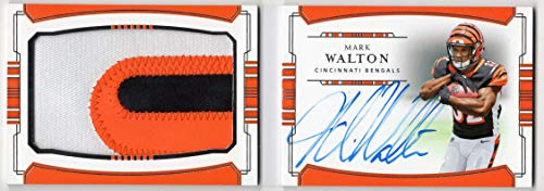 Mark Walton 2018 Panini National Treasures Rookie Jumbo Prime Signatures Booklet RC On Card Auto 3 Color Jumbo Jersey Patch Serial #59/99 Autograph