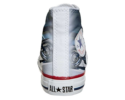 Converse Customized Adulte - chaussures coutume (produit artisanal) motor cycles