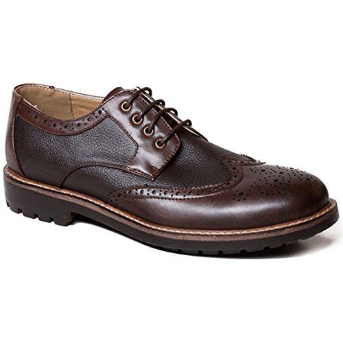 Scarpe Stringate Fashion Business Brown Bullock Artigianali Pelle Da Brown Classiche In Con Da Scarpe Uomo Tonda Uomo Scarpe Testa 7v7rfA