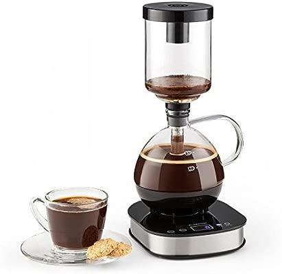 KLARSTEIN Drop Siphon Coffee Maker Cafetera de vacío - Pantalla LCD , Base 360° , Vaso térmico , Café gourmet, claro y con cuerpo , Modo manual y ...