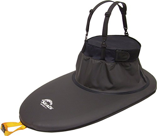 - Seals Odyssey Stretch Kayak Spray Skirt-Black-1.7Deck