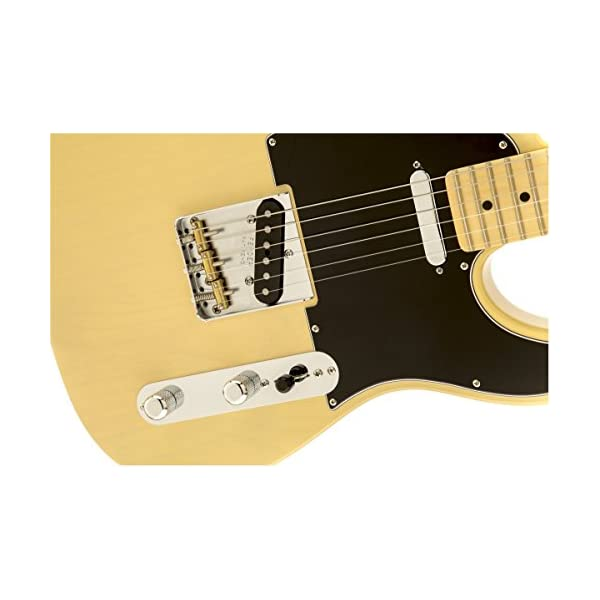Fender 0115802307 American Special Telecaster Maple Fingerboard Electric Guitar – Vintage Blonde