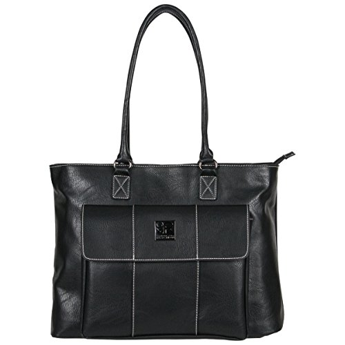 (Kenneth Cole Reaction Women's Casual Fling Ladies Tote Laptop, Black)