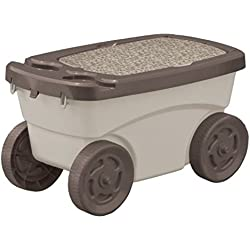 Lucy Suncast-GDS200-Portable-Garden-Scooter-Carriage-Cart-with-Seat