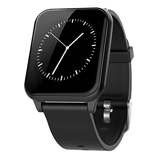 スマートウォッチ 血圧計 スマートブレスレット 心拍計 活動量計 1.3インチ 多機能腕時計 スポーツ腕時計 防水 ストップウォッチ 電話着信/SMS通知/Line通知 腕時計 睡眠検測 座りっぱなし警告 P67防水 運動記録 日本語説明書 IOS&Android対応 (ブラック-Z02)