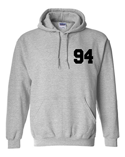 Ashton Irwin 94 Unisex Mens Womens Hoodie Sweatshirt Jumper Pullover, Heather, M