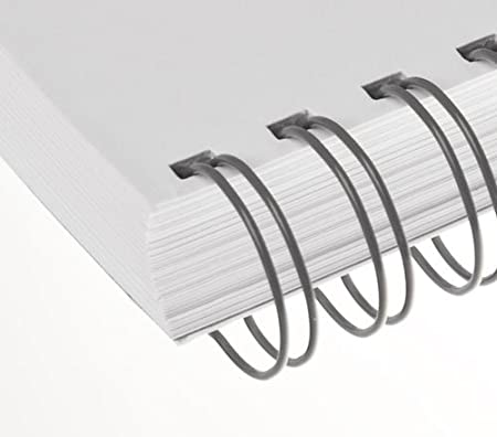 Renz One Pitch Drahtkamm-Bindeelemente in 2:1 Teilung 3//4 Zoll bronce 23 Schlaufen Durchmesser 19.0 mm