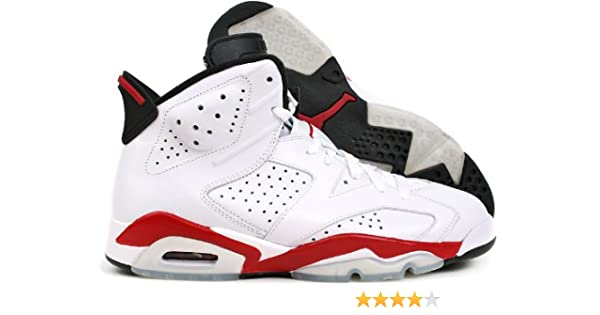 sale retailer cf5c6 8a700 Amazon.com  Nike Air Jordan 6 Retro Sakuragi Hanamichi (384664-102) White  Red  Basketball