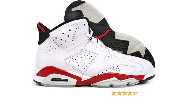 636ddaeb3de Amazon.com | Nike Air Jordan 6 Retro Sakuragi Hanamichi (384664-102) White  Red | Basketball