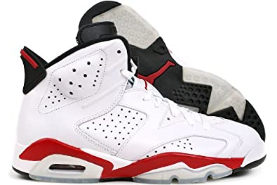 542c395432b Jordan Nike Air 6 Retro 384664-102-8.5 White Varsity Red-black