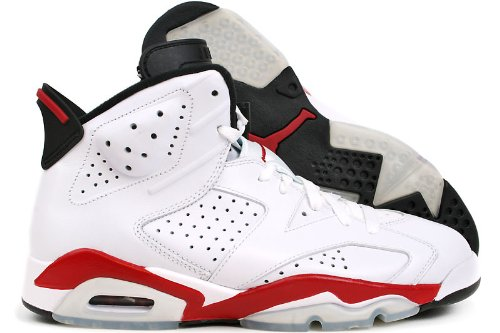 Amazon.com | Nike Air Jordan 6 Retro \u0026quot; Bulls \u0026quot; White/Varsity Red-Black Mens Shoes 384664-102 | Basketball
