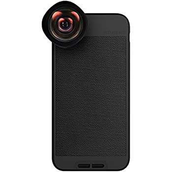 iPhone 8 / iPhone 7 Case with Wide Lens Kit || Moment Black Canvas Photo Case plus Wide Lens || Best iphone wide attachment lens with thin protective case.