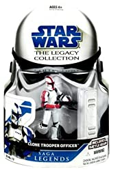 Star Wars Saga Legends Basic Figures- Clone Trooper Officer Red
