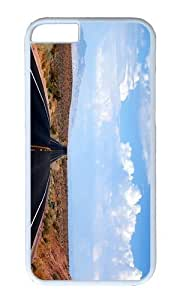 MOKSHOP Adorable desert road nevada Hard Case Protective Shell Cell Phone Cover For Apple Iphone 6 (4.7 Inch) - PC White