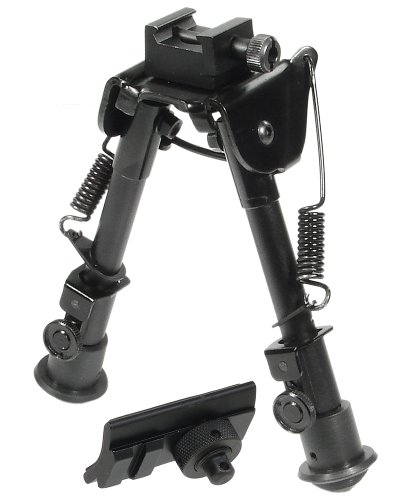 UTG Tactical OP Bipod, Rubber Feet, Center Height 6.1