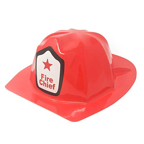 24 Piece Plastic Firefighter Hats for Kids - Fire Chief Hats -
